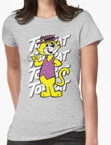 Top The Cat Womens Fitted T-Shirt