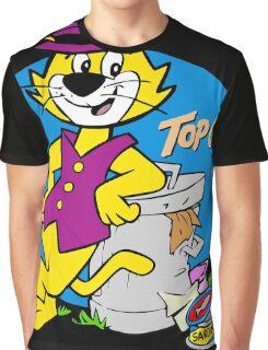 Stylish Cat Graphic T-Shirt