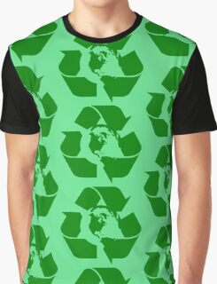 Earth Day Recycle Reuse Reduce Design Graphic T-Shirt