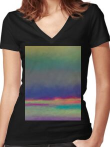 Shore of dreams art Women's Fitted V-Neck T-Shirt