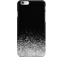 spray painted detail in white over black iPhone Case/Skin