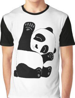 Waving Panda Graphic T-Shirt