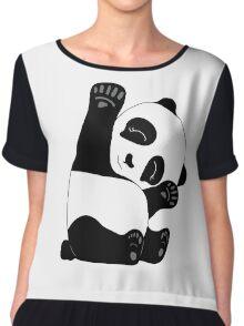 Waving Panda Chiffon Top