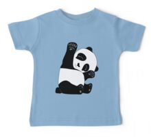 Waving Panda Baby Tee