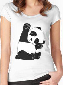 Waving Panda Women's Fitted Scoop T-Shirt