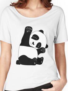 Waving Panda Women's Relaxed Fit T-Shirt