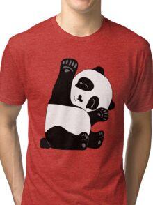 Waving Panda Tri-blend T-Shirt