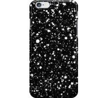 graffiti paint splatter pattern in white over black iPhone Case/Skin