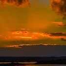 Sunset Over the River by Bette Devine