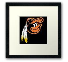 Redskins Orioles Framed Print