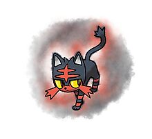 Litten - pokemon sun and moon starter Photographic Print