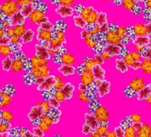Flowers Random Fill Pattern HotPink Sticker