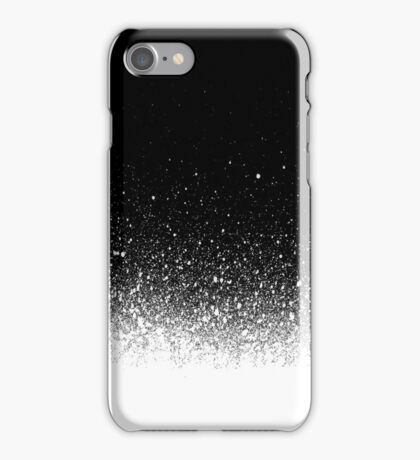 spray painted gradient detail in white over black iPhone Case/Skin