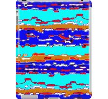 Bush Ants Abstract Digital Var 12 solid background iPad Case/Skin