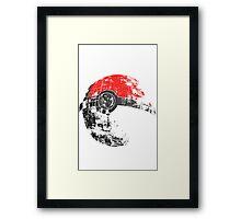 Pokeball Death Star Framed Print