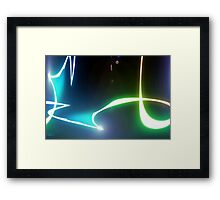 abstract glowing light Framed Print