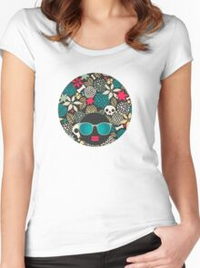 Skulls and flowers (2) Women's Fitted Scoop T-Shirt