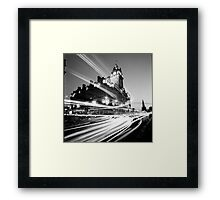 Edinburgh, Scotland, Long exposure Black and White Photo Framed Print