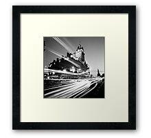 Edinburgh, Scotland, Long exposure Black and White Photo Framed Print