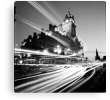 Edinburgh, Scotland, Long exposure Black and White Photo Canvas Print
