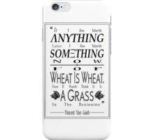 """""""For Wheat is Wheat"""" in Black iPhone Case/Skin"""