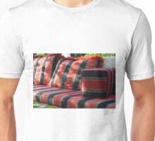 Bird in flight in front of mattress in the park. Unisex T-Shirt