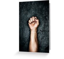 Protest fist Greeting Card