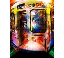 kimball train, brown line, chicago Photographic Print