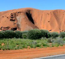 On the road to Uluru Sticker