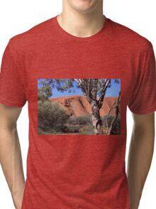Uluru through the trees Tri-blend T-Shirt