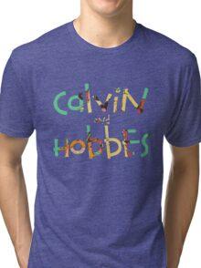 calvin and hobbes font Tri-blend T-Shirt
