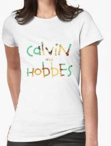 calvin and hobbes font Womens Fitted T-Shirt