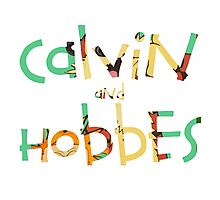 calvin and hobbes font Photographic Print