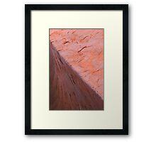 Uluru Waterline Framed Print