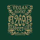 VEGAN ROCKT - veggie, vegetarian, meatless, life by fuxart
