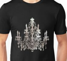 Crystal Chandelier, Faux Silver Unisex T-Shirt