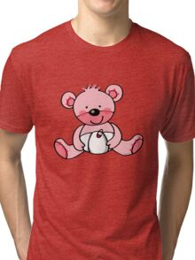baby pink teddy bear Tri-blend T-Shirt