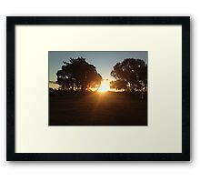 Rural Sunset Framed Print