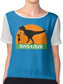 Little girl and dinosaur Chiffon Top