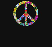 Cool Retro Flowers Peace Sign - T-Shirt and Stickers Womens Fitted T-Shirt