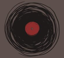Spinning within with a vinyl record... Baby Tee