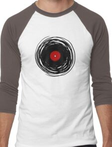 Spinning within with a vinyl record... Men's Baseball ¾ T-Shirt