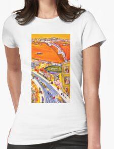 Summer sunset Womens Fitted T-Shirt