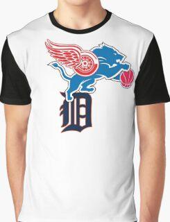 Detroit Sports Love Graphic T-Shirt