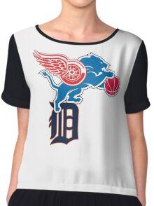 Detroit Sports Love Chiffon Top