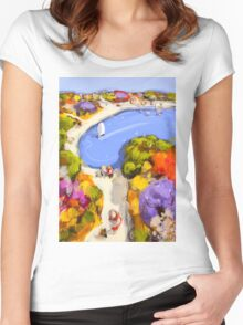 Sailing by Women's Fitted Scoop T-Shirt