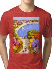 Sailing by Tri-blend T-Shirt