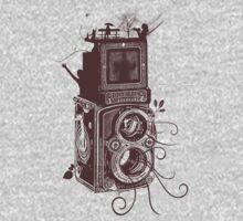 Retro Rolleiflex - Evolution of Photography - Vintage #2 One Piece - Short Sleeve