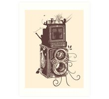 Retro Rolleiflex - Evolution of Photography - Vintage #2 Art Print