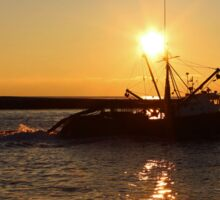 Fishing Boat Under The Morning Sun | Hampton Bays, New York Sticker